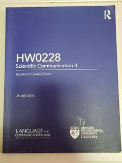 HW0228 Scientific Communication II