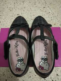 Hello Kitty Black Leather Shoes
