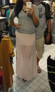 Forever 21 baby pink skirt