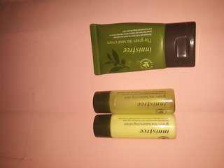 INNISFREE green tea seed serum, balancing skin dan balancing lotion