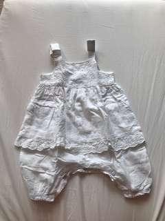 Pumpkin patch white lace romper jumpsuit