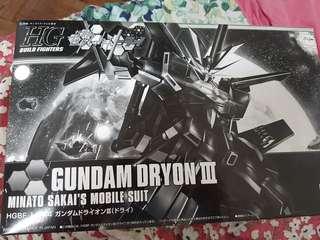 P- bandai HG Gundam Dryon III (TRYON BLACK)