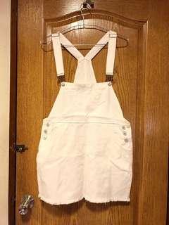 🚚 可愛白色吊帶裙