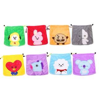 BT21 BTS Drawstring Pocket Storage Pouch / Coin Bag