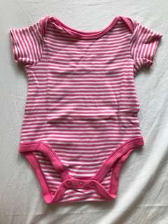 Mothercare pink stripes bodysuit 12 months
