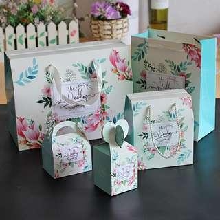 預購 韓式花之戀包裝袋 婚禮小物 包裝袋 喜糖盒 送禮 ♬胖胖小屋
