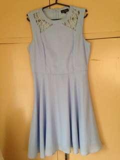 Zalora Baby Blue Dress