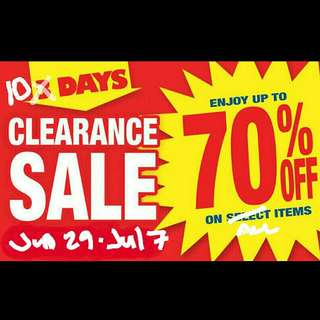 10-day CLEARANCE SALE!