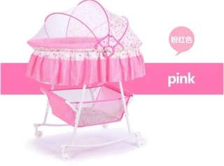 Pink Rocker with Mosquito Net Rocking Crib Stroller