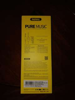 REMAX PUREMUSIC EARPHONES