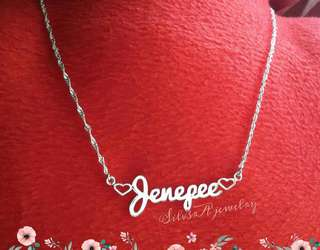 Personalized 925 Italy silver Name necklace