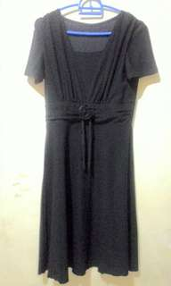 Dress Hitam Pita mawar