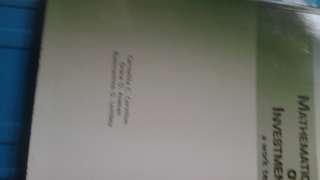 Mathematics of Investment A Worktext 2009 Ed by Cervillon/Avanan/Lomboy
