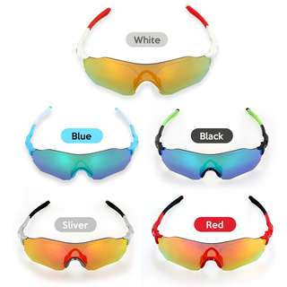 Sports Cycling Glasses Bike Sports Sunglasses UV Protective Lens for Fishin