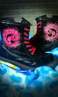Barbie black boots