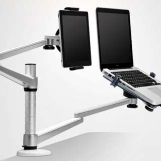 iPad & Tablet Stand / (OA-9X) Laptop/Notebook and Tablet/iPad Desktop Dual Arm Mount Stand