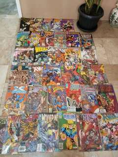 DC and Marvel vintage comics 35pcs
