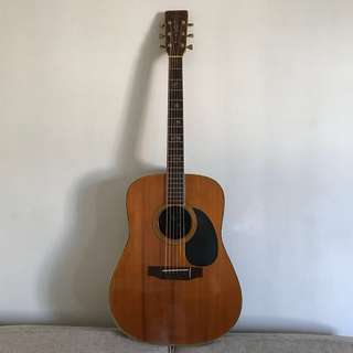 Vintage, but super playable acoustic guitar- more than 40 years old.