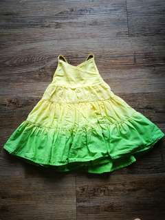 Baby Poney Dip Dye Layered Dress
