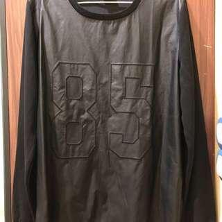 Sparkle & Fade Leather Sweater