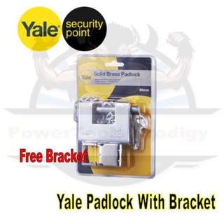 [NEW] YALE SECURITY ENTRANCE PADLOCK SOLID BRASS FOR GATE
