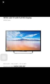 "100% New Sony Full HD TV, W70C, 32"", 電視, Television"