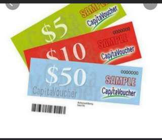 Buuying Capital Mall Vouchers