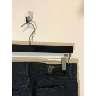 VERSACE COLLECTION 黑藍色 凡賽斯 梅杜莎 女王頭 牛仔褲 丹寧褲