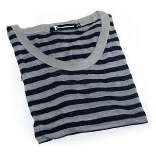 便宜出售T BY ALEXANDER WANG 橫條T-shirt