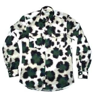 訂價15800 KENZO 秀款 虎紋 印花 襯衫