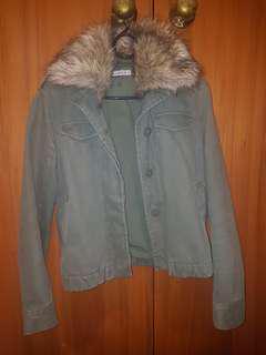 Khaki fur jacket
