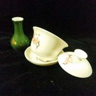 Teacup and mini vase
