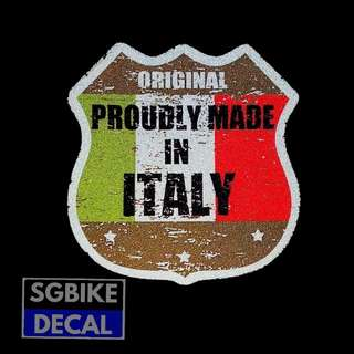 Made In Italy Reflective Decal
