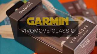 Garmin Vivomove Classic Stealth Black - With Leather Band, Analog Activity and Sleep Tracker