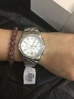 MK SILVER AUTHENTIC WATCH
