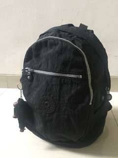 Authentic Kipling black backpack