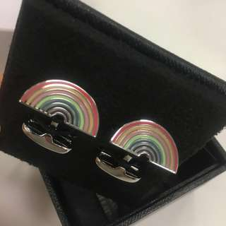 Paul Smith 袖口鈕 Men's Rainbow Cufflinks gift for him birthday gift 禮物