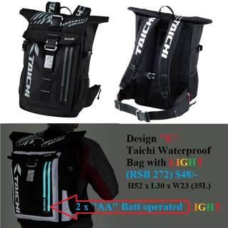 "Taichi Design RSB 272 ""E"" Waterproof bag with Light $48/- <READY STOCK>"
