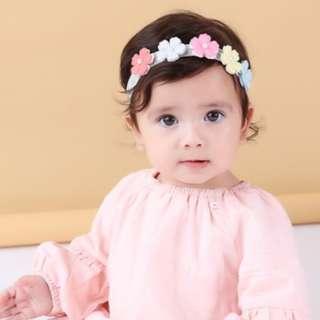 🚚 🌟INSTOCK🌟 Pastel Rainbow Floral Tiara Headpiece Baby Girl Headband Bandana Kids Girl Party Hair Accessories