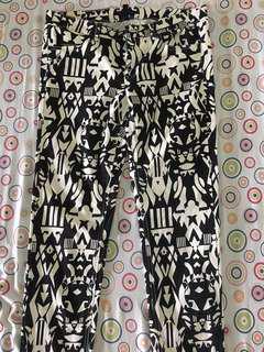 H&M skinny aztec pants