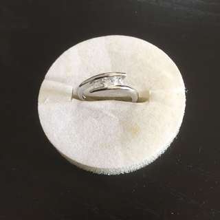18K Plated Crystal Ring