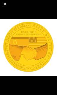 trump kim summit coin