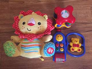 Fisher Price Lion & ToLo Toys