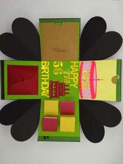 Explosion Box - Gift Box / Ready-Made Exploding Box for Birthday, Anniversary & Graduation etc