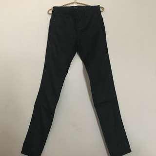 Morgan black coated jeans
