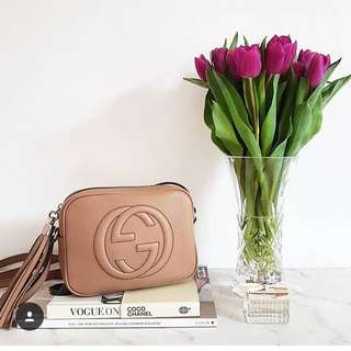 Gucc soho bag in beige
