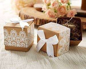 🚚 CHEAPEST Rustic and lace kraft gift box