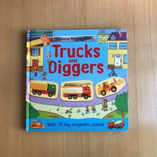 Usborne Magnet Book - Trucks and Diggers