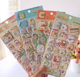 Sumikko gurashi puffy Stickers