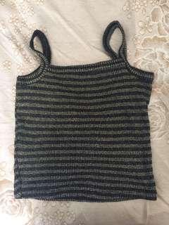 購於美國🇺🇸 金黑針織小可愛內搭上衣